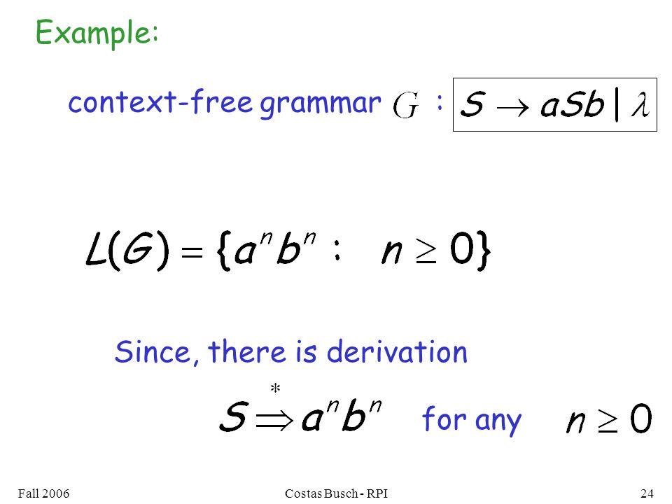 context-free grammar :