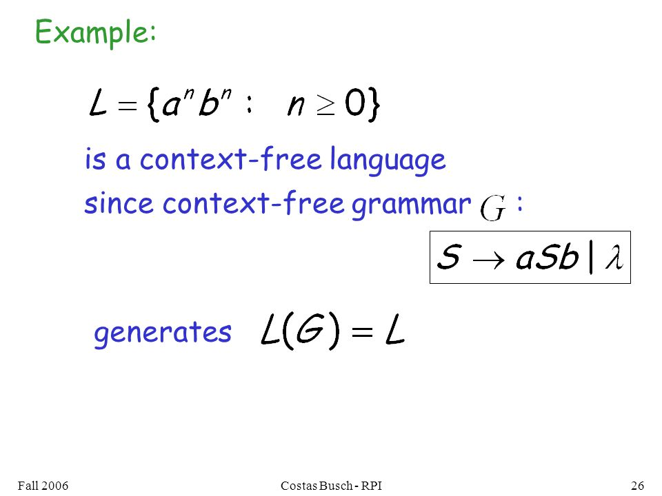 is a context-free language