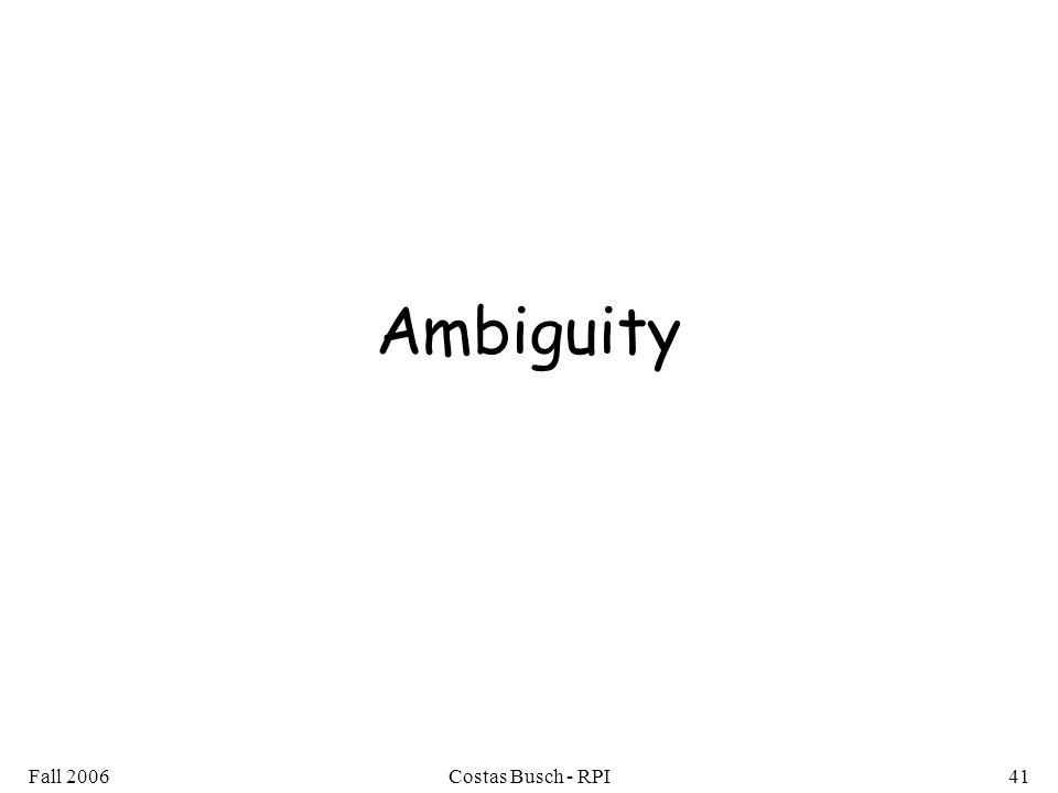 Ambiguity Fall 2006 Costas Busch - RPI