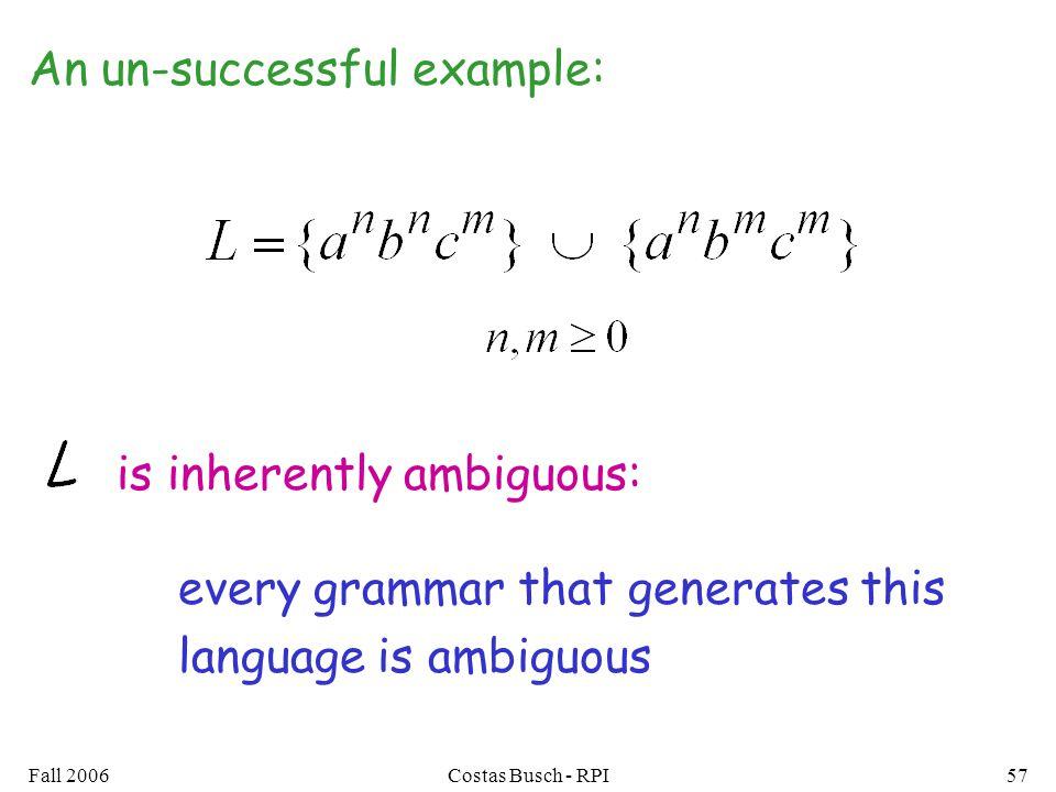 An un-successful example: