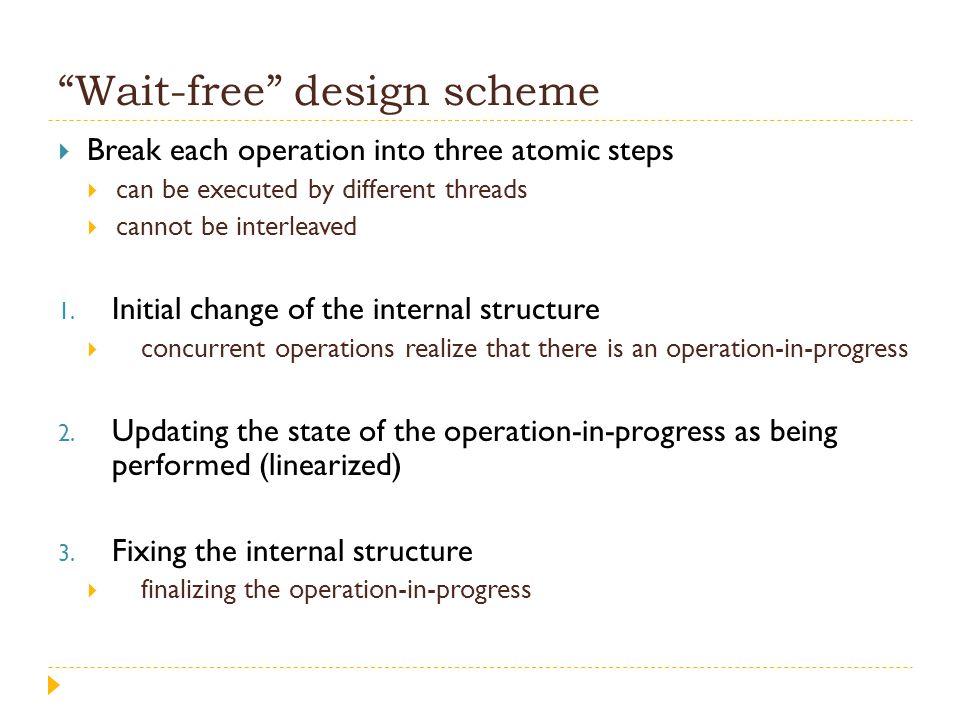 Wait-free design scheme