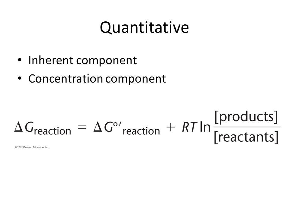 Quantitative Inherent component Concentration component