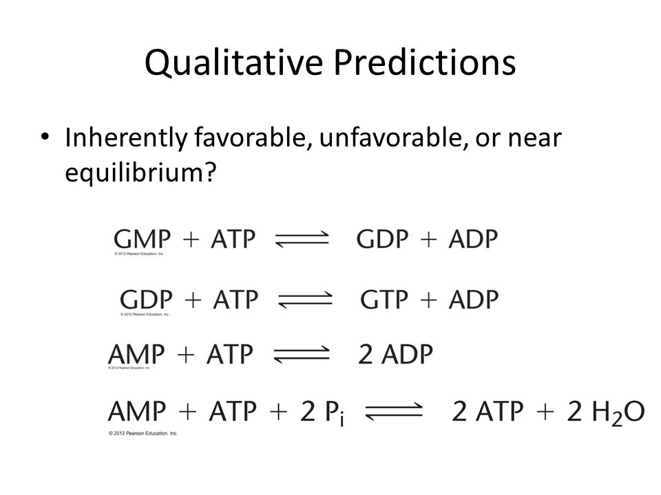 Qualitative Predictions