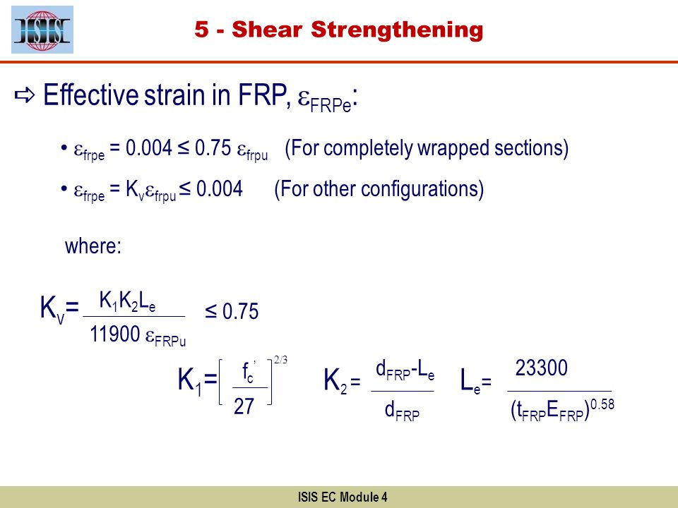 Effective strain in FRP, eFRPe: