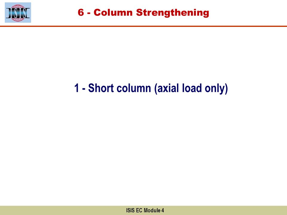 1 - Short column (axial load only)