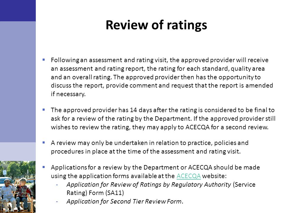 Review of ratings