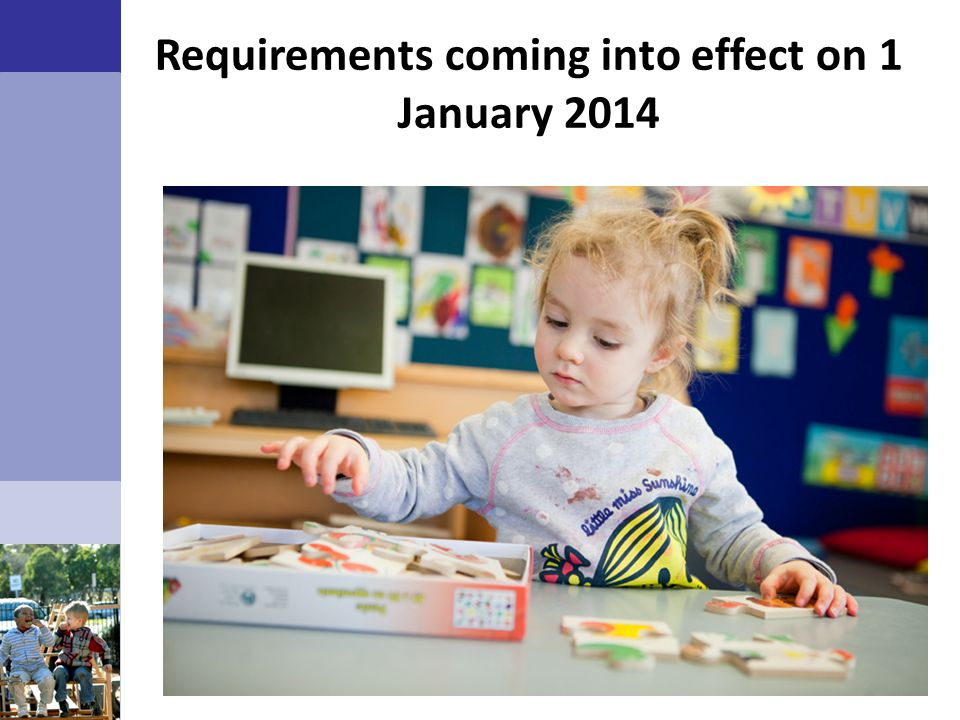 Requirements coming into effect on 1 January 2014