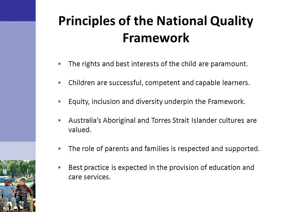 Principles of the National Quality Framework