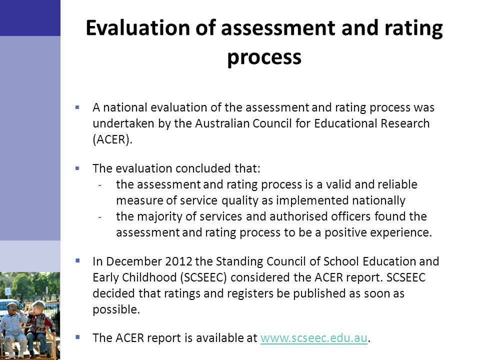 Evaluation of assessment and rating process