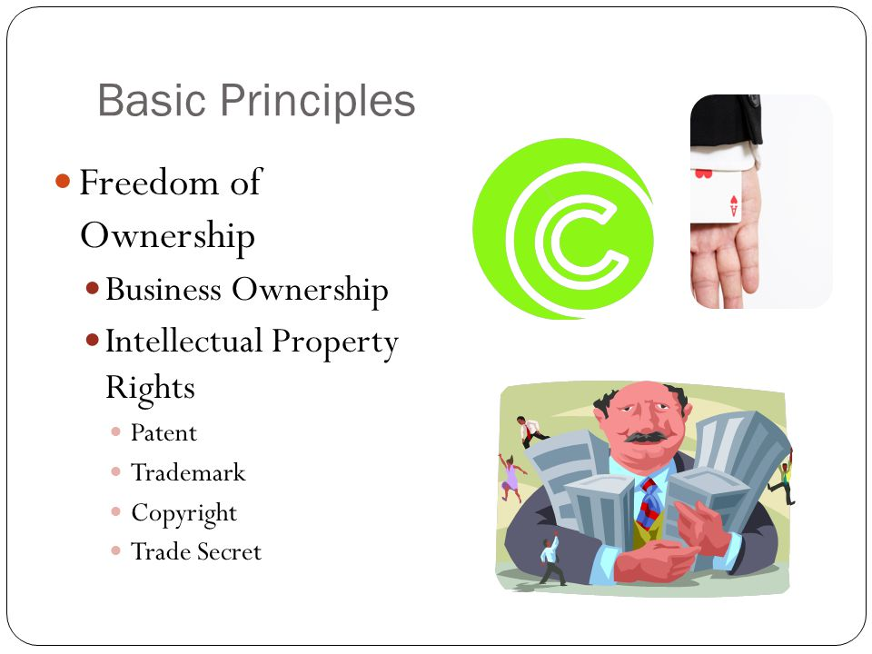 Basic Principles Freedom of Ownership Business Ownership
