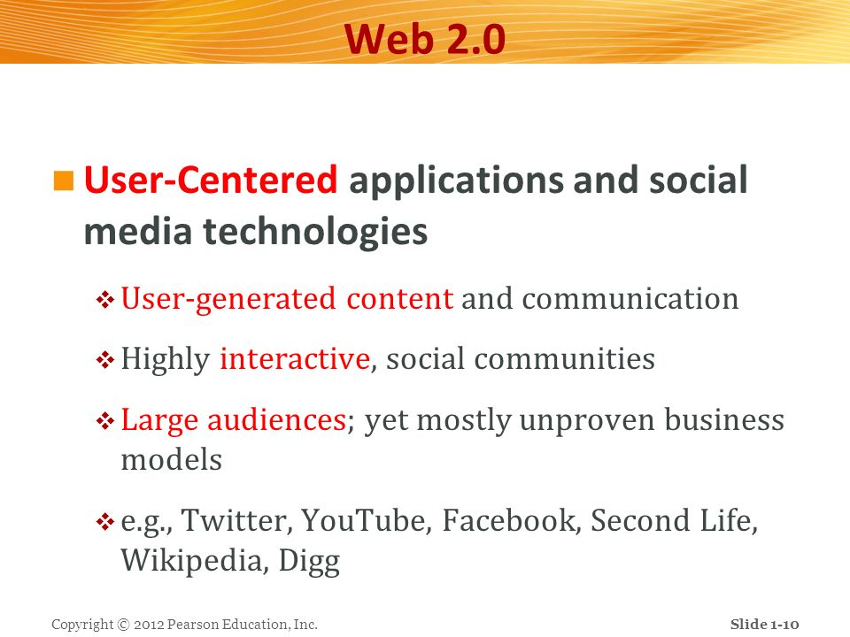 Web 2.0 User-Centered applications and social media technologies