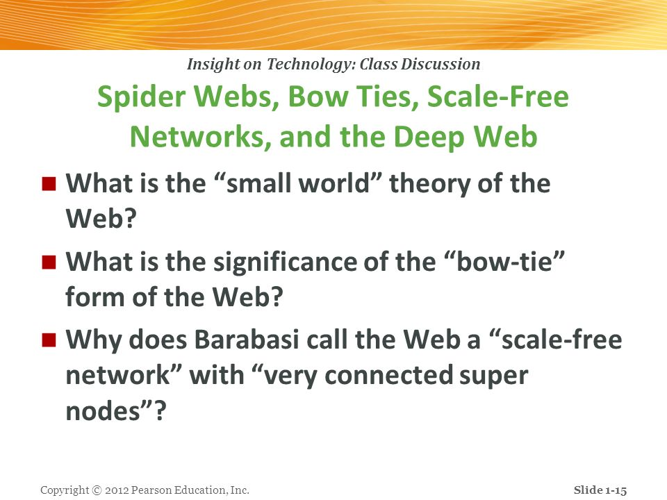 Spider Webs, Bow Ties, Scale-Free Networks, and the Deep Web