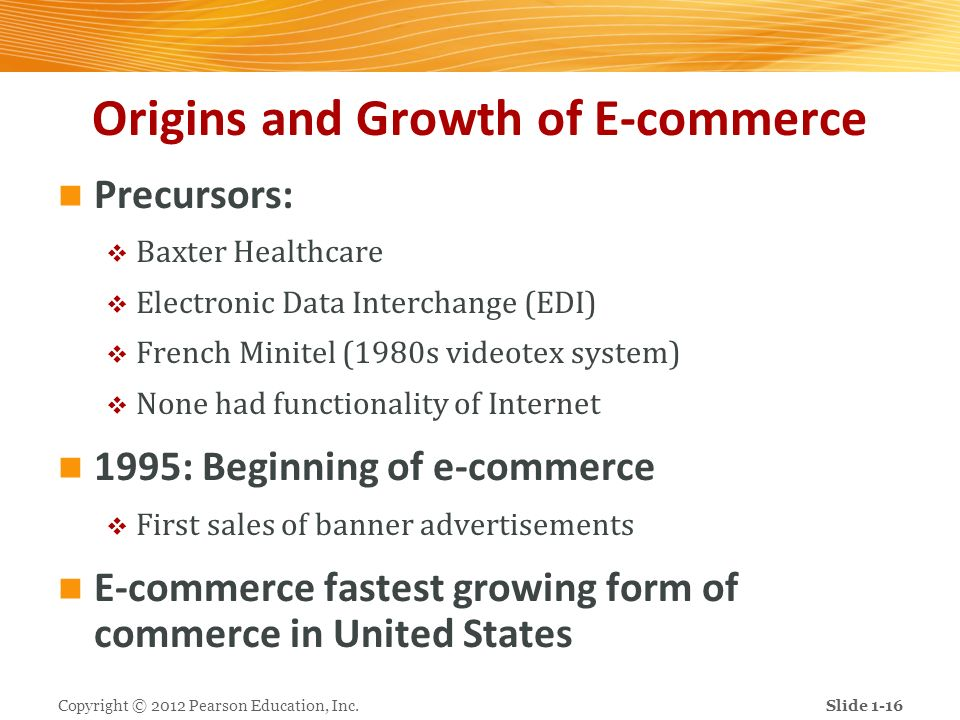 Origins and Growth of E-commerce