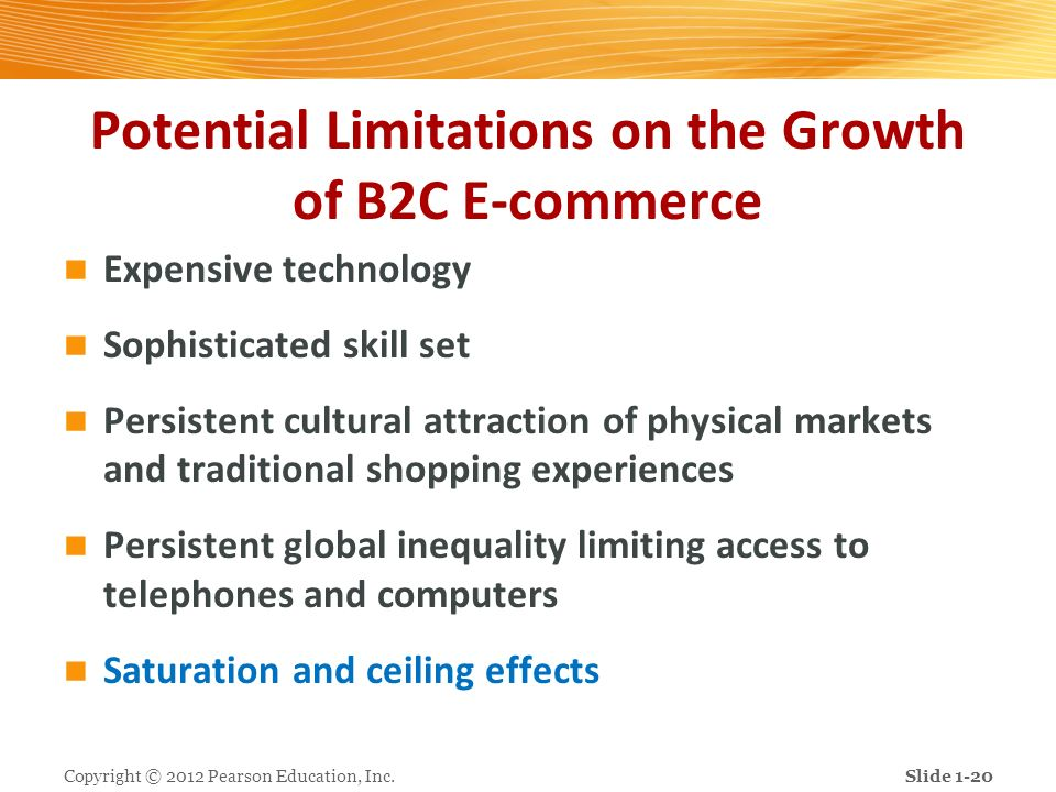 Potential Limitations on the Growth of B2C E-commerce