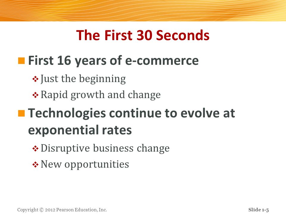 The First 30 Seconds First 16 years of e-commerce
