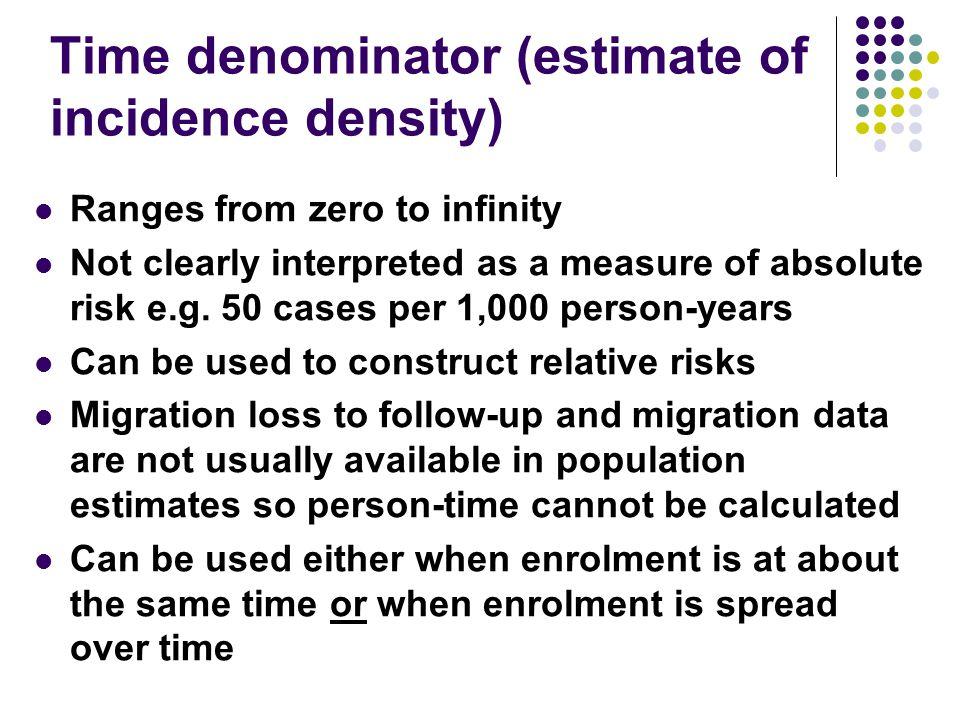 Time denominator (estimate of incidence density)