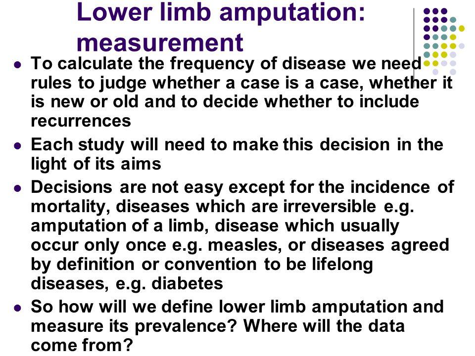 Lower limb amputation: measurement