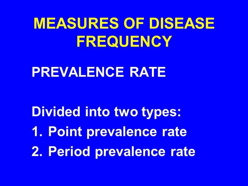 MEASURES OF DISEASE FREQUENCY
