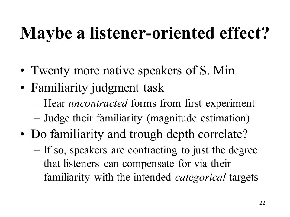Maybe a listener-oriented effect