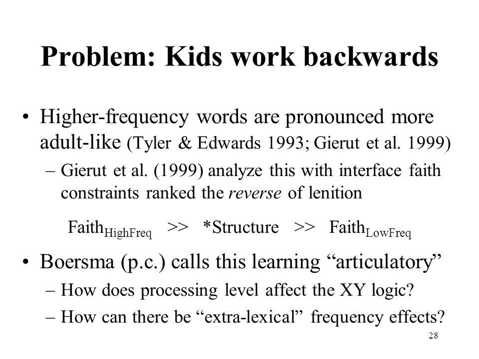 Problem: Kids work backwards