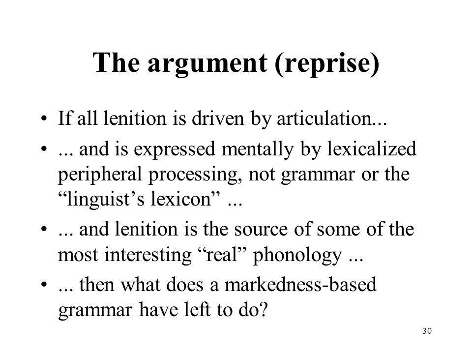 The argument (reprise)