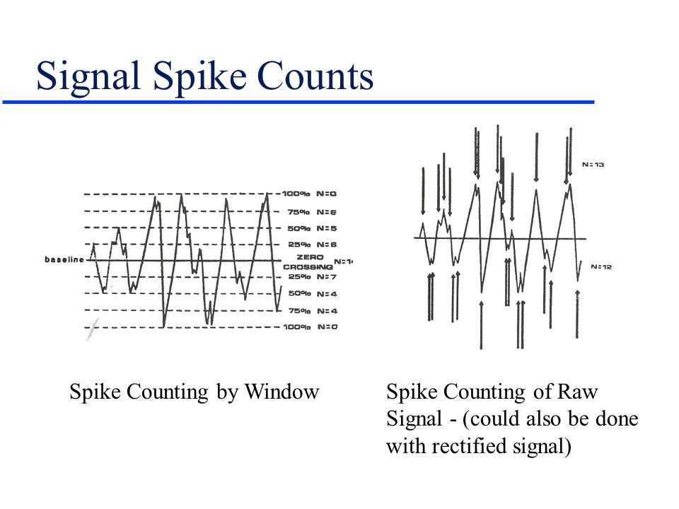 Signal Spike Counts Spike Counting by Window Spike Counting of Raw