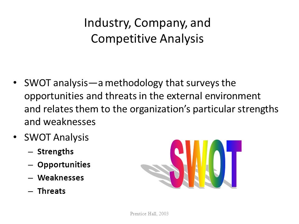 Industry, Company, and Competitive Analysis
