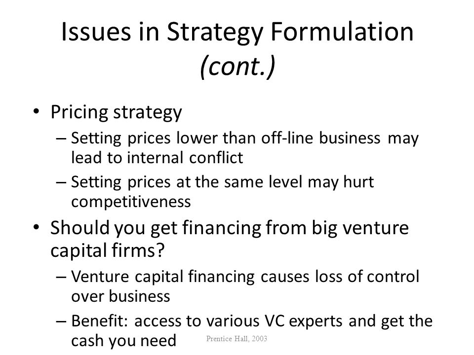 Issues in Strategy Formulation (cont.)