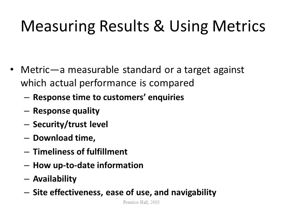 Measuring Results & Using Metrics