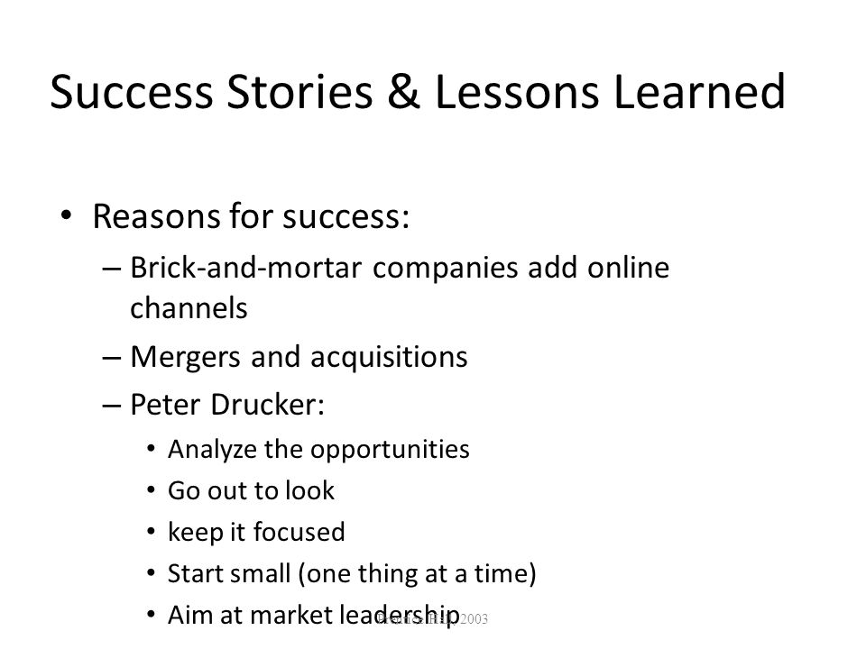 Success Stories & Lessons Learned