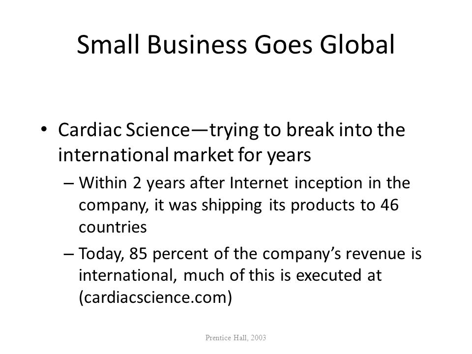 Small Business Goes Global