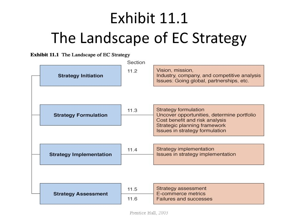 Exhibit 11.1 The Landscape of EC Strategy