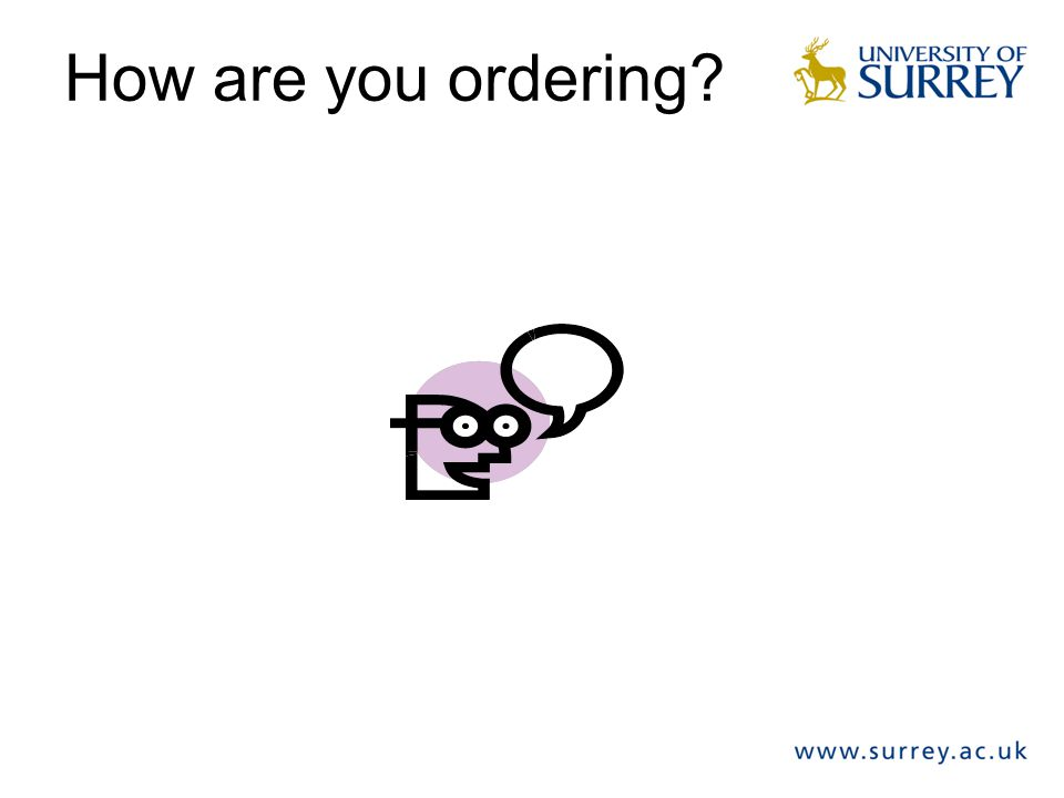 How are you ordering