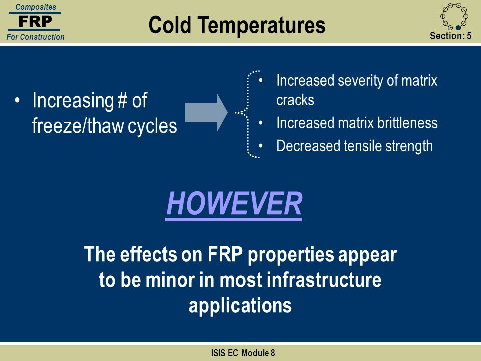 HOWEVER Cold Temperatures Increasing # of freeze/thaw cycles