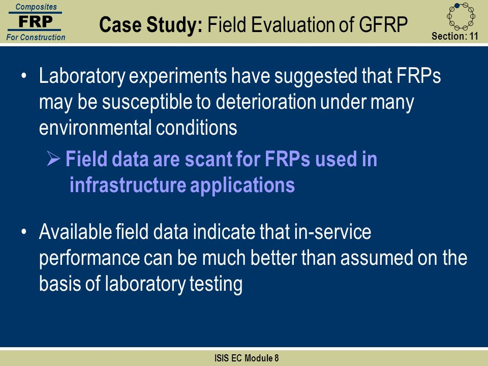 Case Study: Field Evaluation of GFRP