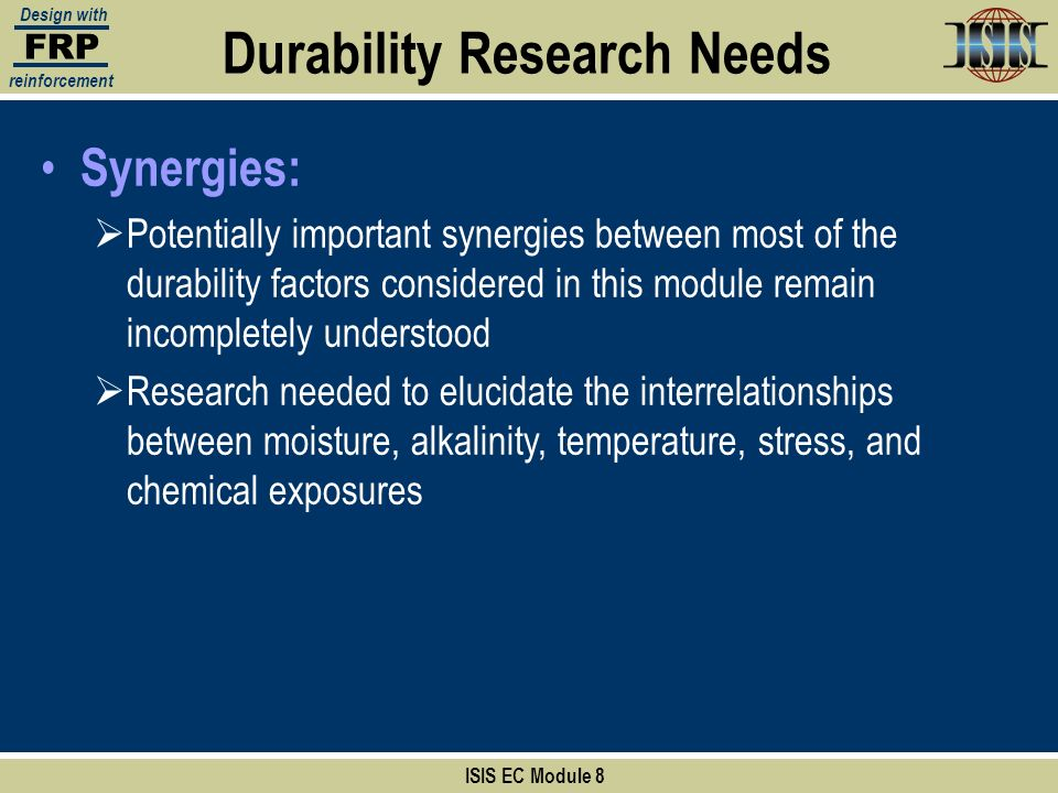 Durability Research Needs
