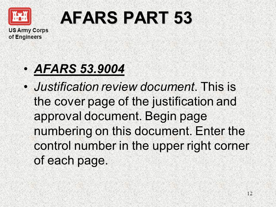 AFARS PART 53 AFARS 53.9004.