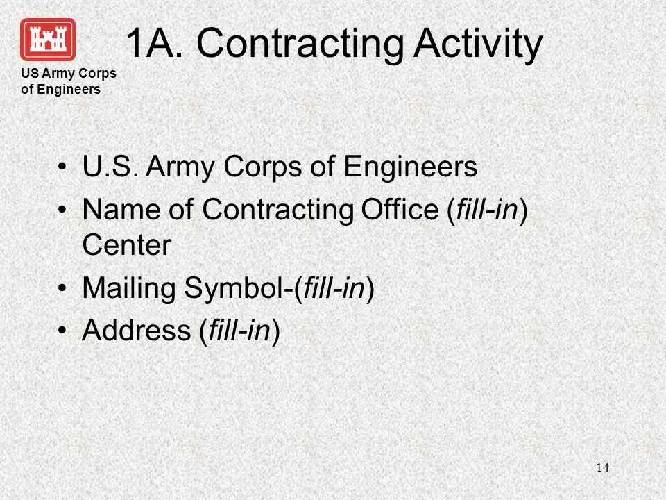 1A. Contracting Activity