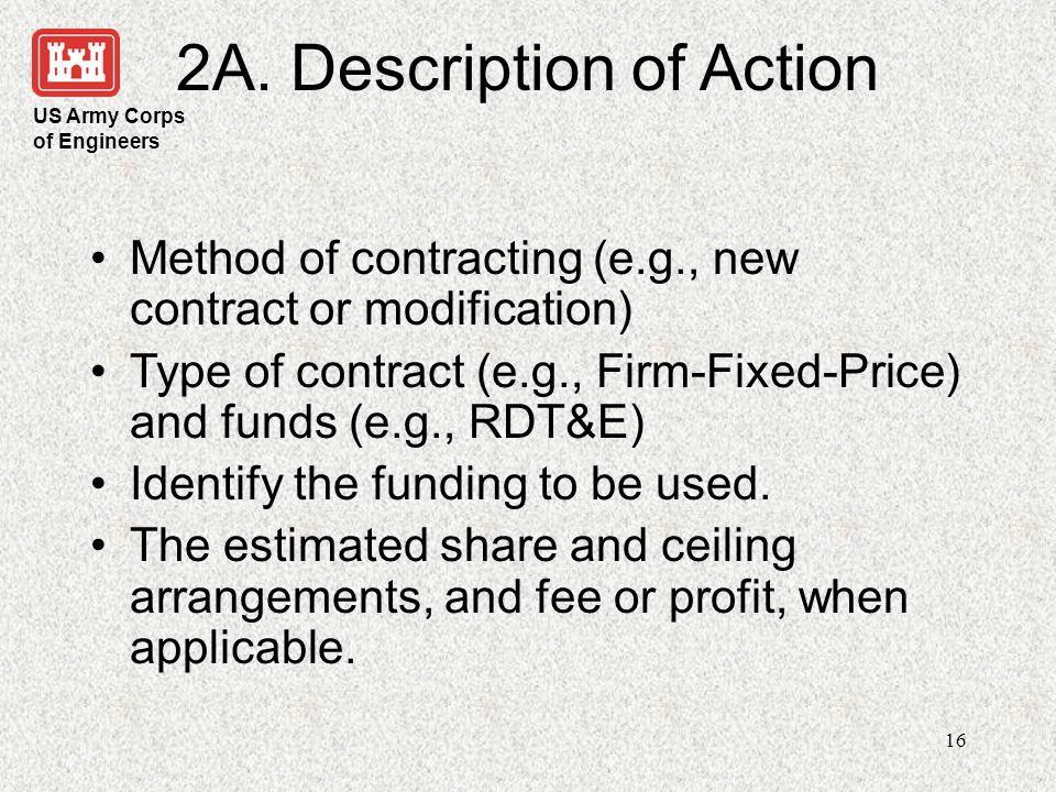 2A. Description of Action