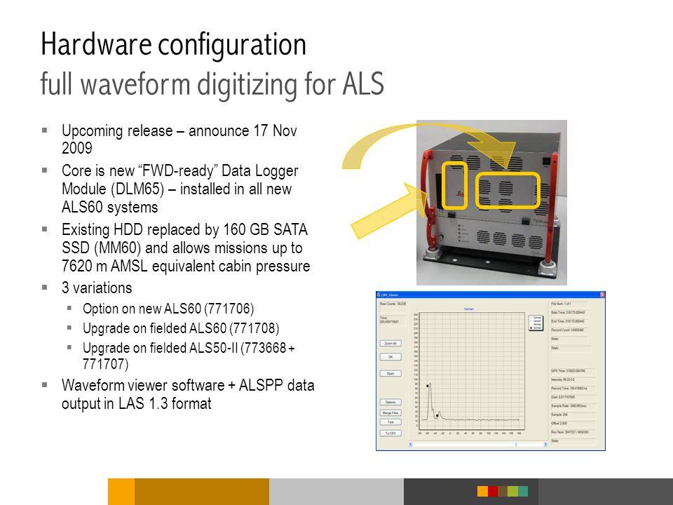 Hardware configuration full waveform digitizing for ALS
