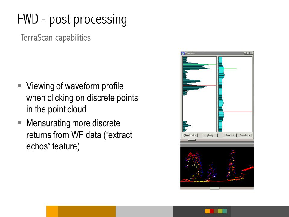 FWD - post processing TerraScan capabilities