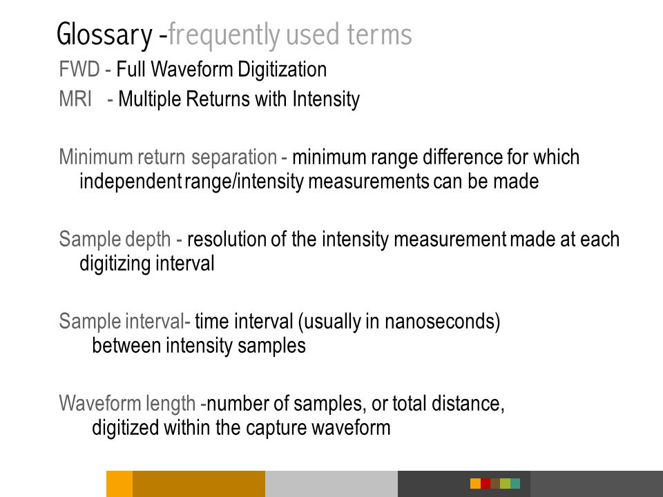 Glossary -frequently used terms