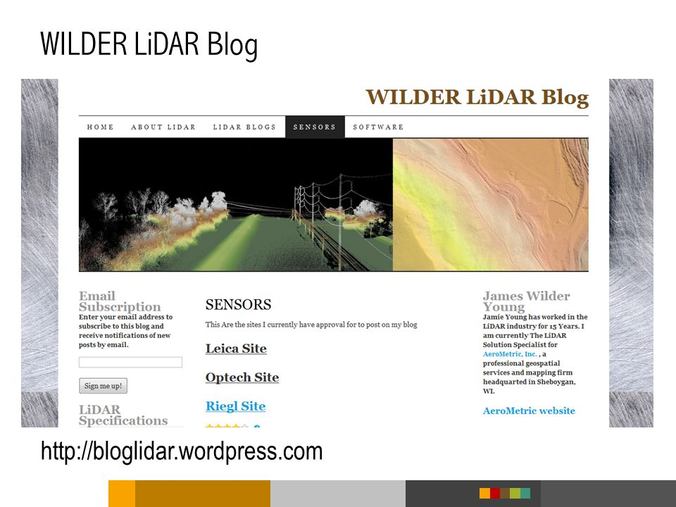 WILDER LiDAR Blog http://bloglidar.wordpress.com