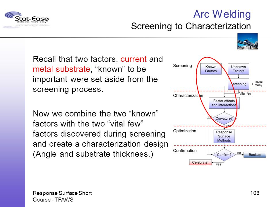 Arc Welding Screening to Characterization