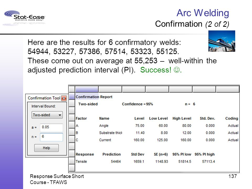 Arc Welding Confirmation (2 of 2)
