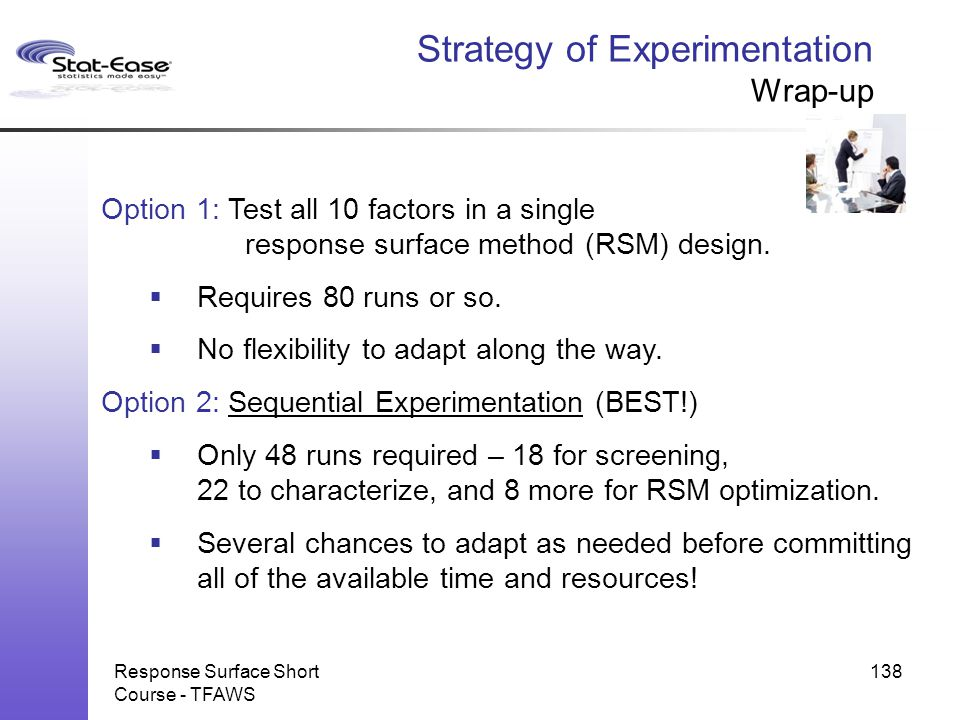 Strategy of Experimentation Wrap-up