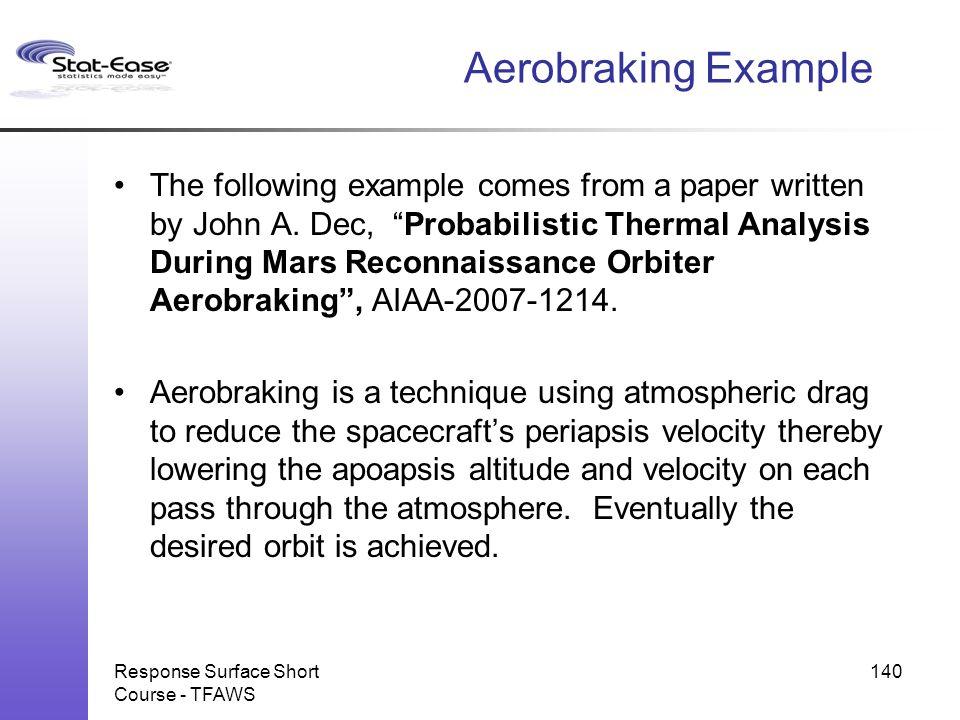 Aerobraking Example