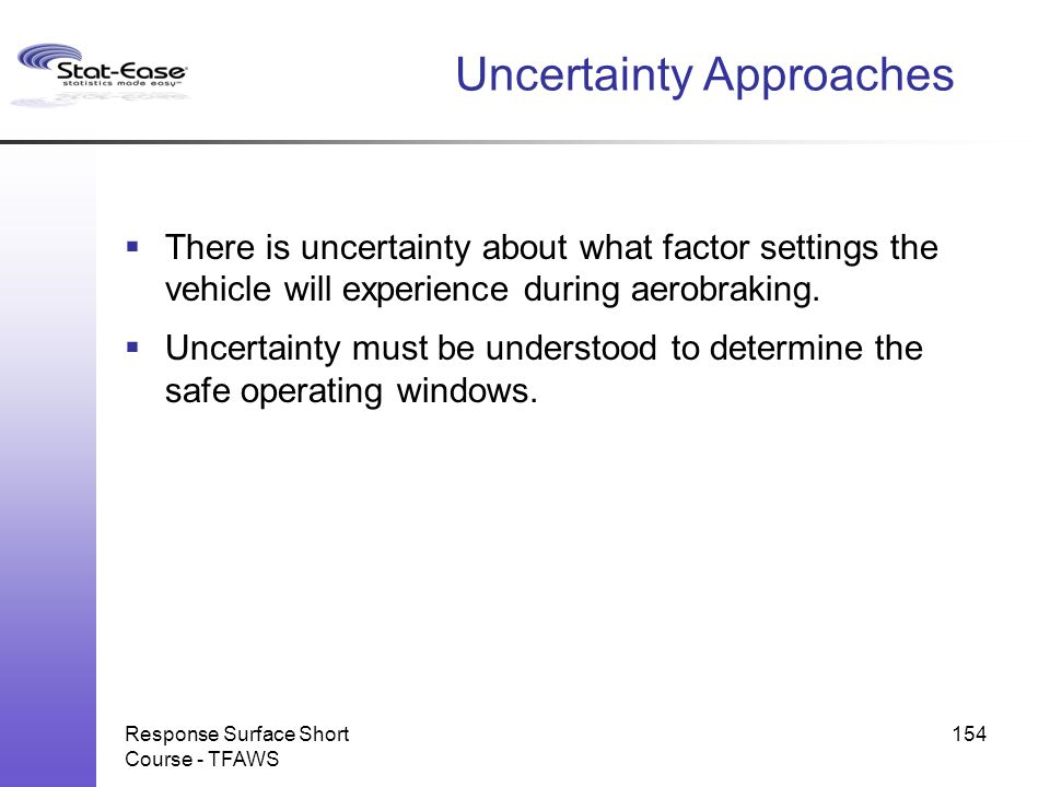 Uncertainty Approaches