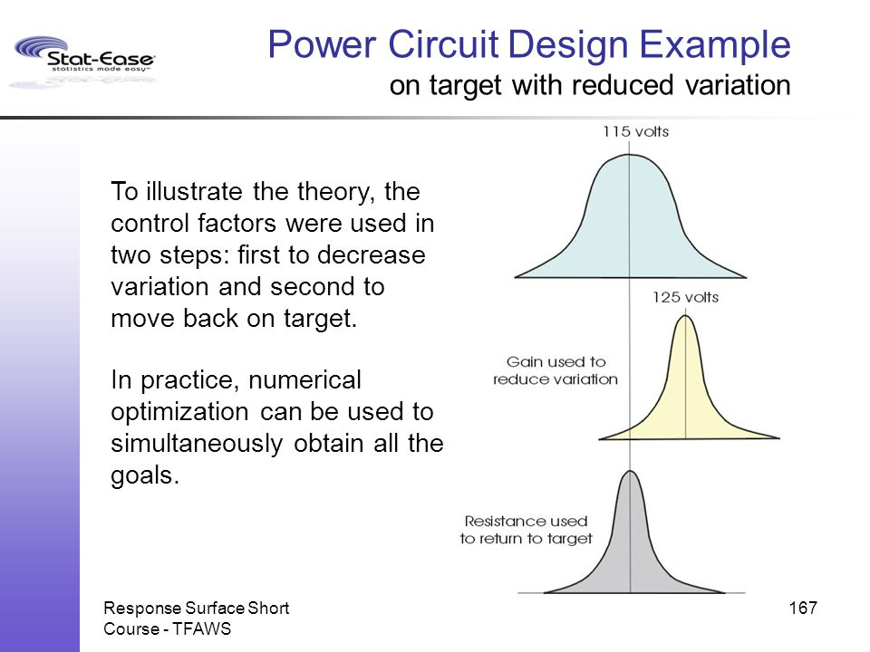 Power Circuit Design Example on target with reduced variation