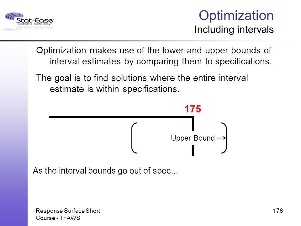 Optimization Including intervals